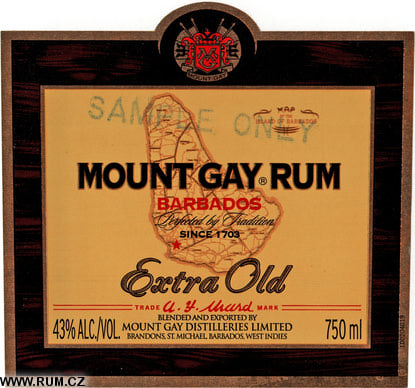 from Grant mount gay extre old rum