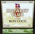 Hatabey Club Licor de Ron Coco
