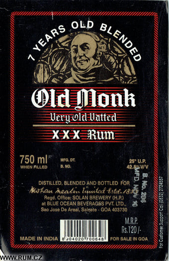 Peter's Rum Labels - Mohan Meakin Limited (India)