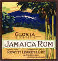 Gloria Brand Jamaica Rum -  Leakey Rowett & Co., London (uk88)