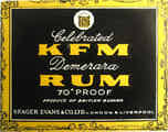 Celebrated KFM Demerara Rum -  Seager Evans & Co., London (uk_185)