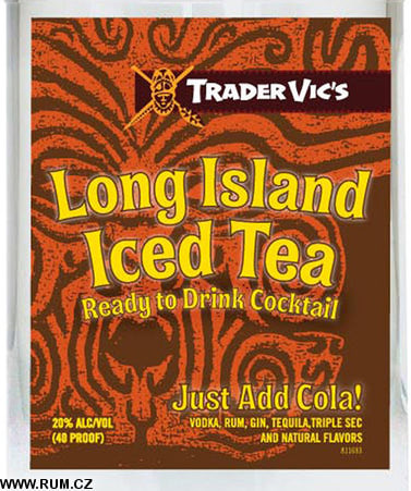 long island iced tea bottle. Trader Vic#39;s Long Island Iced